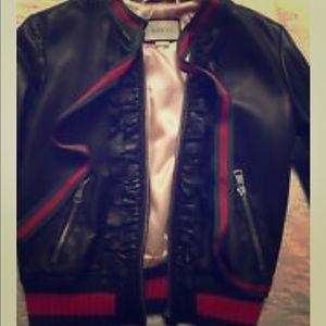 Gucci Ruffle Bomber  Jacket